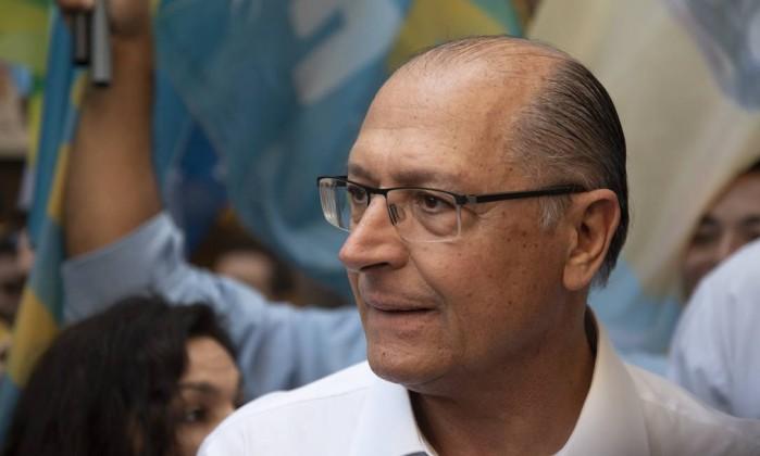 Candidato Geraldo Alckmin, durante agenda pública no Rio de Janeiro Foto: Leo Martins / Agência O Globo (13/09/2018)