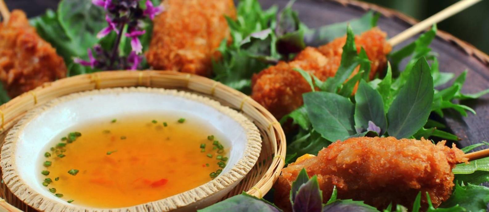Sawasdee. Kafta de camarão com milho verde Foto: Divulgação
