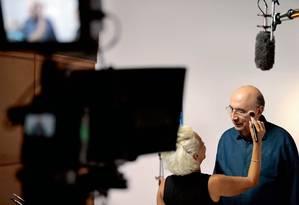 Henrique Meirelles, candidato pelo MDB, grava programa eleitoral em Brasília. Investimento de R$ 40 milhões do próprio bolso em propaganda e produção de TV e 2% de intenções de voto Foto: Jorge William / Agência O Globo