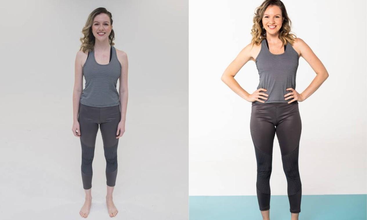 Priscilla Aguiar Litwak (antes e depois) Foto: Roberto Vianna e Bárbara Lopes