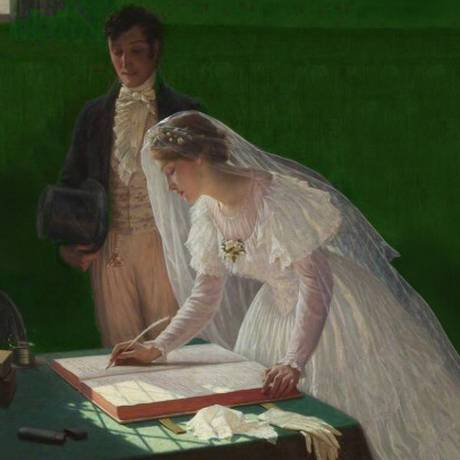 """""""O registro de casamento"""", de Edmund Blair Leighton (1853-1922) Foto: Bristol Museums"""