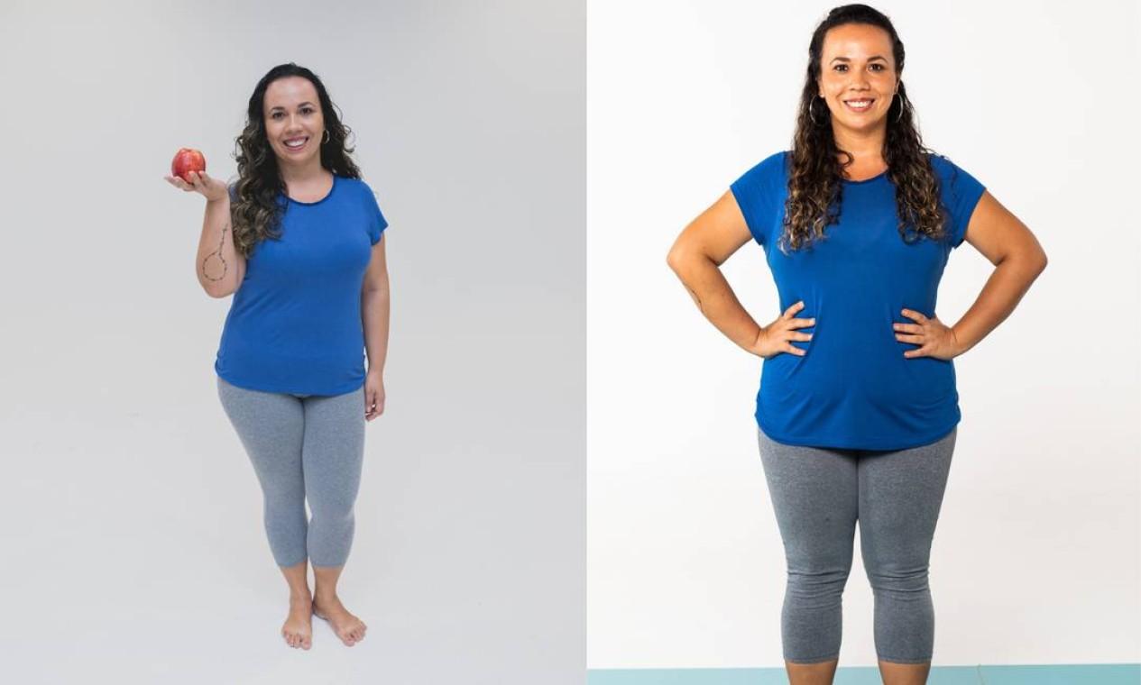 Patrícia de Paula (antes e depois) Foto: Roberto Vianna e Bárbara Lopes