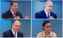 Os candidatos Fernando Haddad (PT), Ciro Gomes (PDT), Geraldo Alckmin (PSDB) e Marina Silva (Rede) Foto: Arquivo O GLOBO