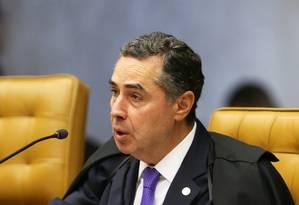 O ministro Luís Roberto Barroso, durante sessão no plenário do STF Foto: Ailton de Freitas / Agência O Globo
