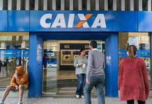 Agência da Caixa: banco começou a oferecer a nova modalidade de empréstimo na quarta-feira Foto: Bárbara Lopes