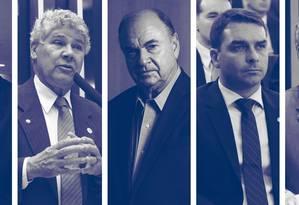 Candidatos ao Senado do Rio Foto: Arte/O GLOBO