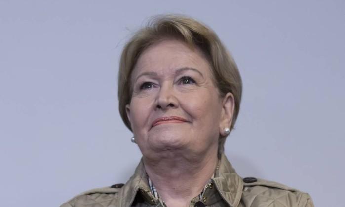 Ana Amélia, vice de Geraldo Alckmin à Presidência da República Foto: Edilson Dantas / Agência O Globo