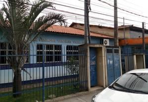 Cadeira de aluno pegou fogo em escola de Itaguaí Foto: Diego Amorim