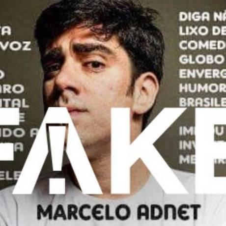 É #FAKE que Marcelo Adnet gravou áudio de Bolsonaro gritando em hospital Foto: Reprodução