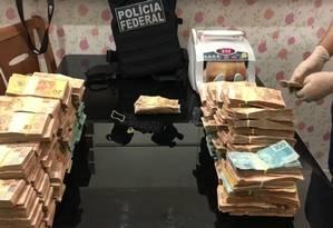 Dinheiro apreendido na casa de Márcio Garcia de Moura Foto: Reprodução