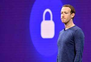 Mark Zuckerberg participa de palestra na Califórnia: fundador do Facebook escapou de ataque à sua conta no site Foto: JOSH EDELSON / AFP/1-5-2018