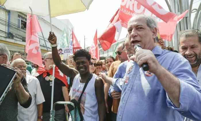 O candidato do PDT à presidência da República Ciro Gomes Foto: Gabriel de Paiva / Agência O Globo