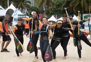 Pódio. A equipe feminina da categoria estreante faturou o primeiro lugar no brasileiro Foto: Divulgação