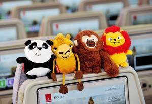 Bichinhos de pelúcia oferecidos nos voos da Emirates Foto: Divulgação