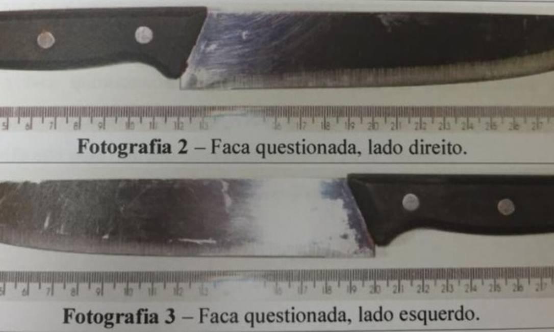PF analisou faca utilizada no atentado Foto: Reprodução