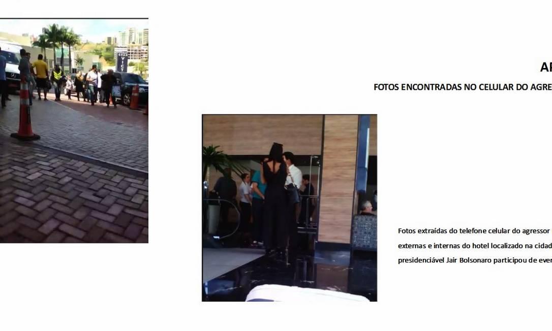 No dia do ataque, Adélio esteve em um hotel onde Bolsonaro participou de um evento Foto: Reprodução