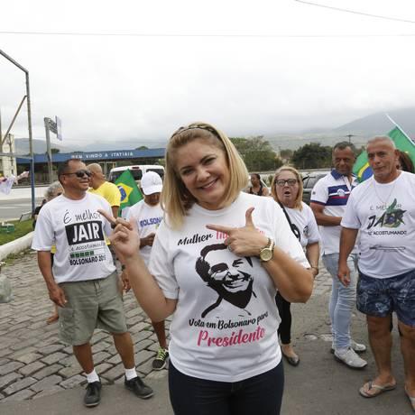 Ana Cristina Valle, que se identificou como Cristina Bolsonaro nas eleições de 2018. Foto: Marcos Ramos / Agência O Globo
