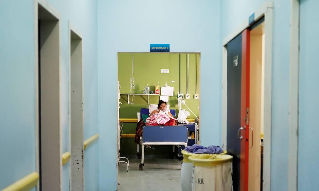 Mulher é atendida em hospital público de Roraima 22/08/2018 Foto: Nacho Doce / Agência O Globo