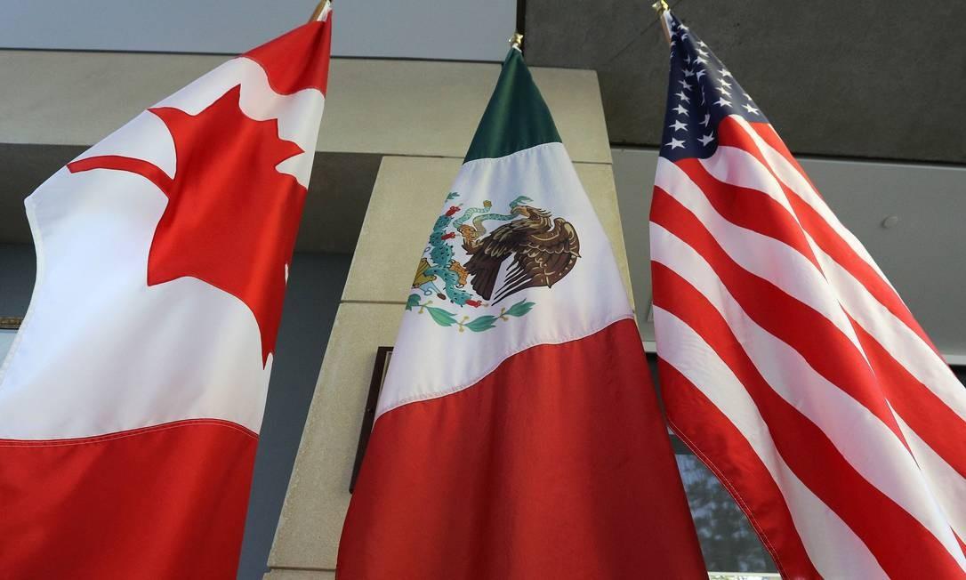 Para assinar o novo acordo, Donald Trump obrigou o Canadá e o México a aceitarem um comércio mais restritivo com seu principal parceiro de exportação. Foto: LARS HAGBERG / LARS HAGBERG/AFP/24-09-2019