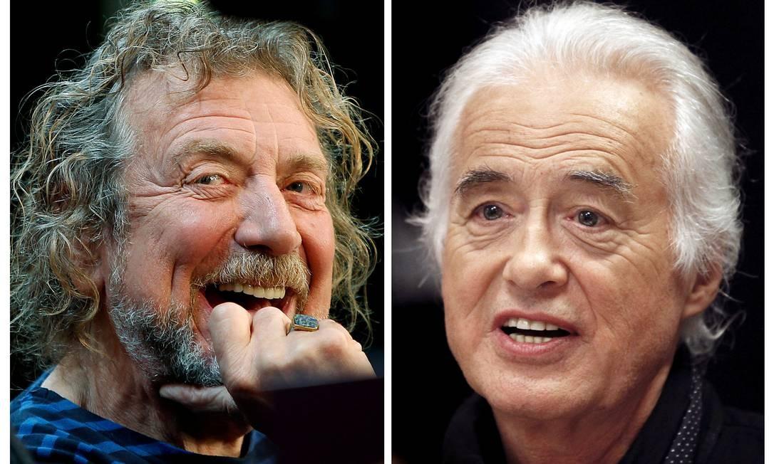 Robert Plant e Jimmy Page, Led Zeppelin Foto: REUTERS