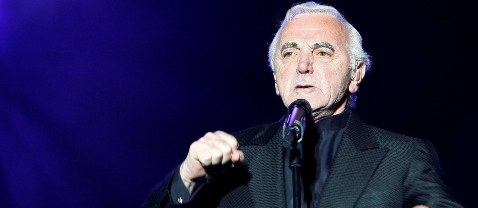 Charles Aznavour, em 2008 Foto: Mathieu Belanger / REUTERS