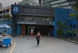 Estação Cardeal Arcoverde Foto: Google Street View
