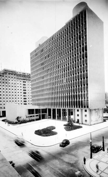 Fachada norte do Ministério da Educação e Saúde, Rio de Janeiro, 1946 Foto: Divulgação