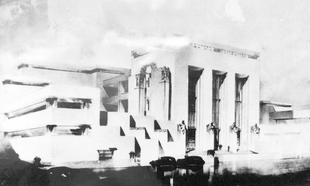 Pax, projeto de Archimedes Memória que venceu o concurso para o Ministério da Educação e Saúde, em 1935, mas não foi construído. Foto: Divulgação