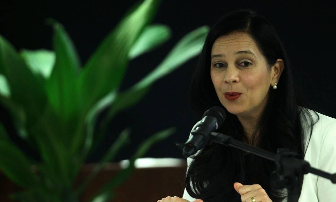 A advogada-geral da União, Grace Mendonça, durante evento Foto: Jorge William/Agência O Globo/20-08-2018