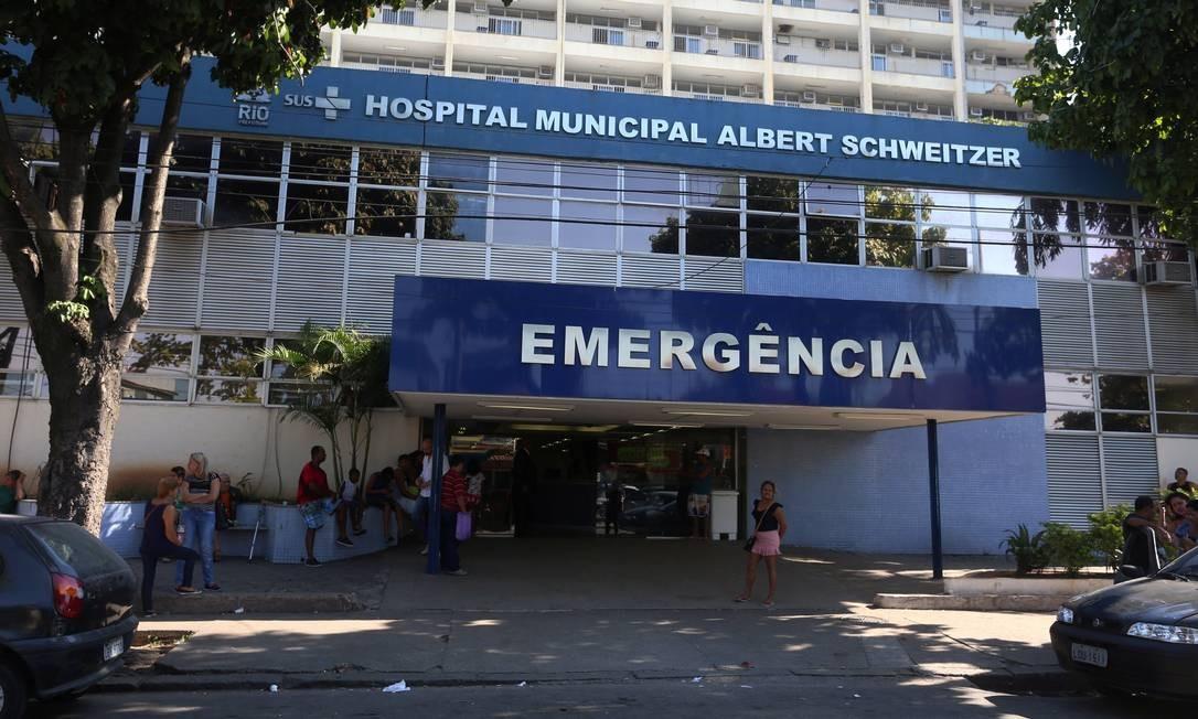 O Hospital Municipal Albert Schweitzer Foto: Fabiano Rocha / Agência O Globo