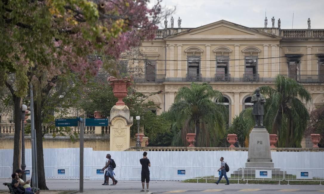 Museu Nacional: Reconstrução vai preservar parte das ruínas do prédio Foto: Ana Branco / Agência O Globo