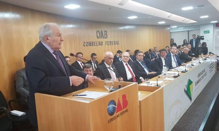 Relator da Constituição de 1988, Bernardo Cabral Foto: Reprodução / OAB