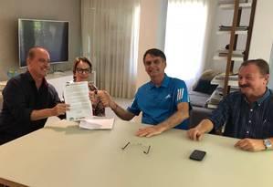 Parlamentares oficializam apoio a Bolsonaro Foto: Divulgação