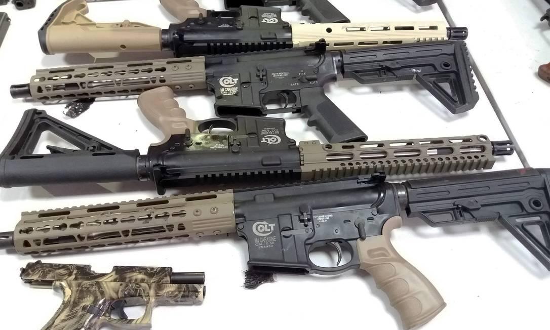 Em 2018, já foram apreendidas 272 armas, sendo 158 pistolas e 60 fuzis Foto: / PRF
