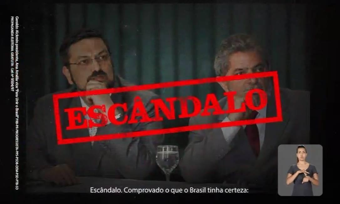 Trecho do programa eleitoral de Geraldo Alckmin Foto: Reprodução