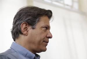 Fernando Haddad visita a Fiocruz, no Rio de Janeiro Foto: Gabriel de Paiva / Agência O Globo