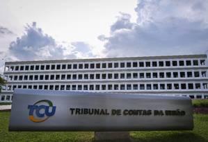 Fachada do Tribunal de Contas da União, em Brasília Foto: André Coelho/Agência O Globo/15-03-2018