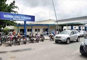 Hospital Geral de Roraima, que recebeu os imigrantes venezuelanos espancados Foto: Marcelo Marques