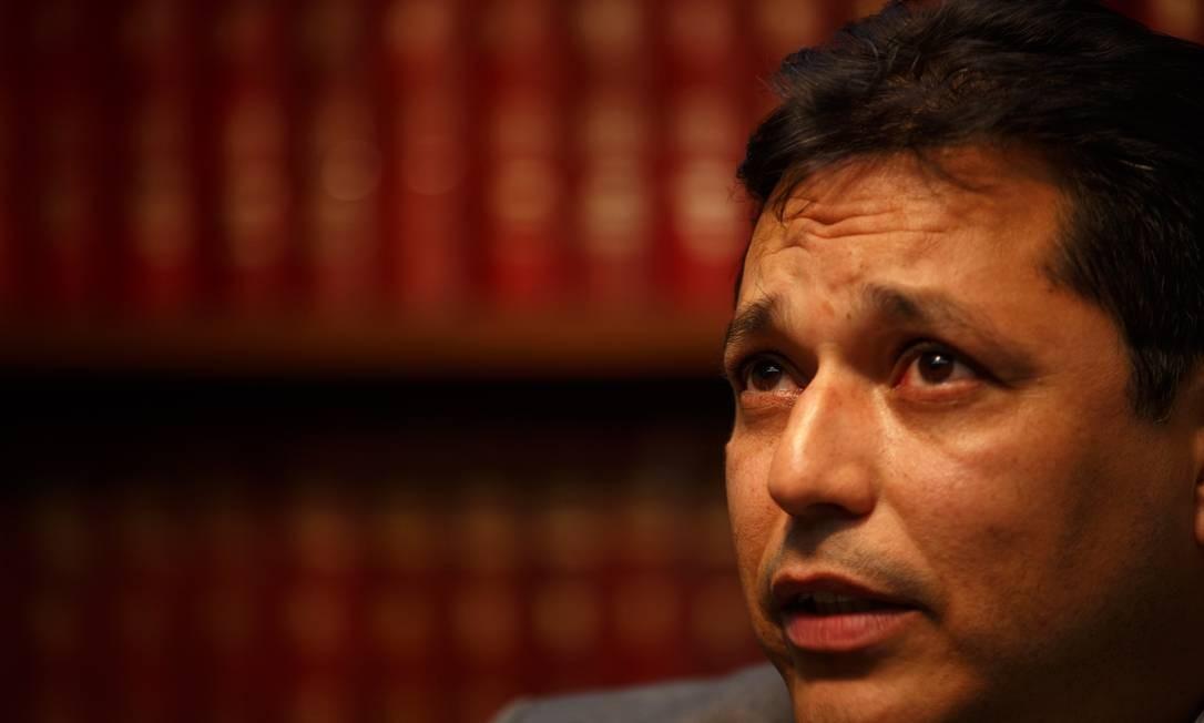 O juiz federal Eduardo Luiz Rocha Cubas, durante entrevista Foto: Daniel Marenco / Agência O Globo