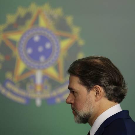 O presidente do STF, Dias Toffoli, quando presidente da República em exercício, em 25 de setembro Foto: Jorge William / Agência O Globo