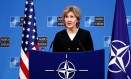 A embaixadora americana na Otan, Kay Bailey Hutchison: recado duro a Moscou Foto: FRANCOIS LENOIR / REUTERS