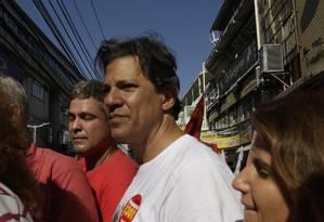 O candidato do PT à Presidência da República, Fernando Haddad Foto: Gabriel de Paiva / Agência O Globo