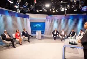 Debate de candidatos ao governo do DF Foto: Daniel Marenco / Agência O Globo