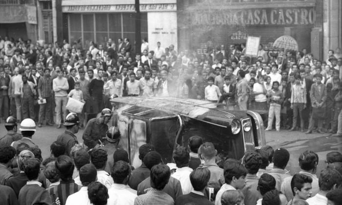 Batalha da Maria Antônia, em 1968 Foto: Arquivo / Agência O Globo