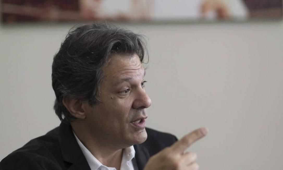 Fernando Haddad, ex- ministro da Educação e ex-prefeito de São Paulo Foto: Edilson Dantas/Agência O Globo