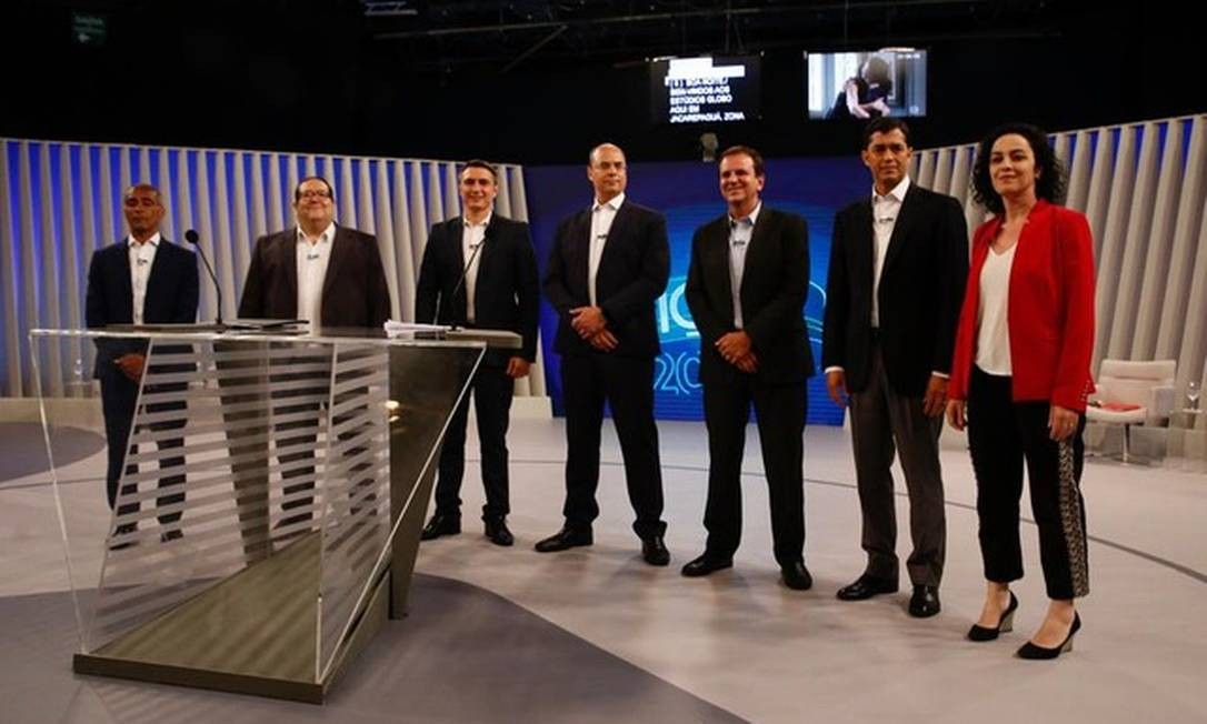 Candidatos ao governo do Rio que participaram de debate na TV Globo na noite de terça-feira Foto: Divulgação