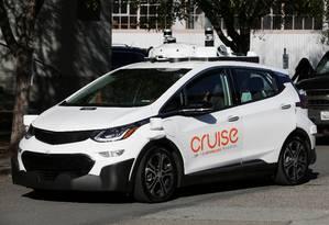 Versão autônoma do elétrico Chevrolet Bolt desenvolvida pela Cruise, da GM Foto: Elijah Nouvelage / REUTERS