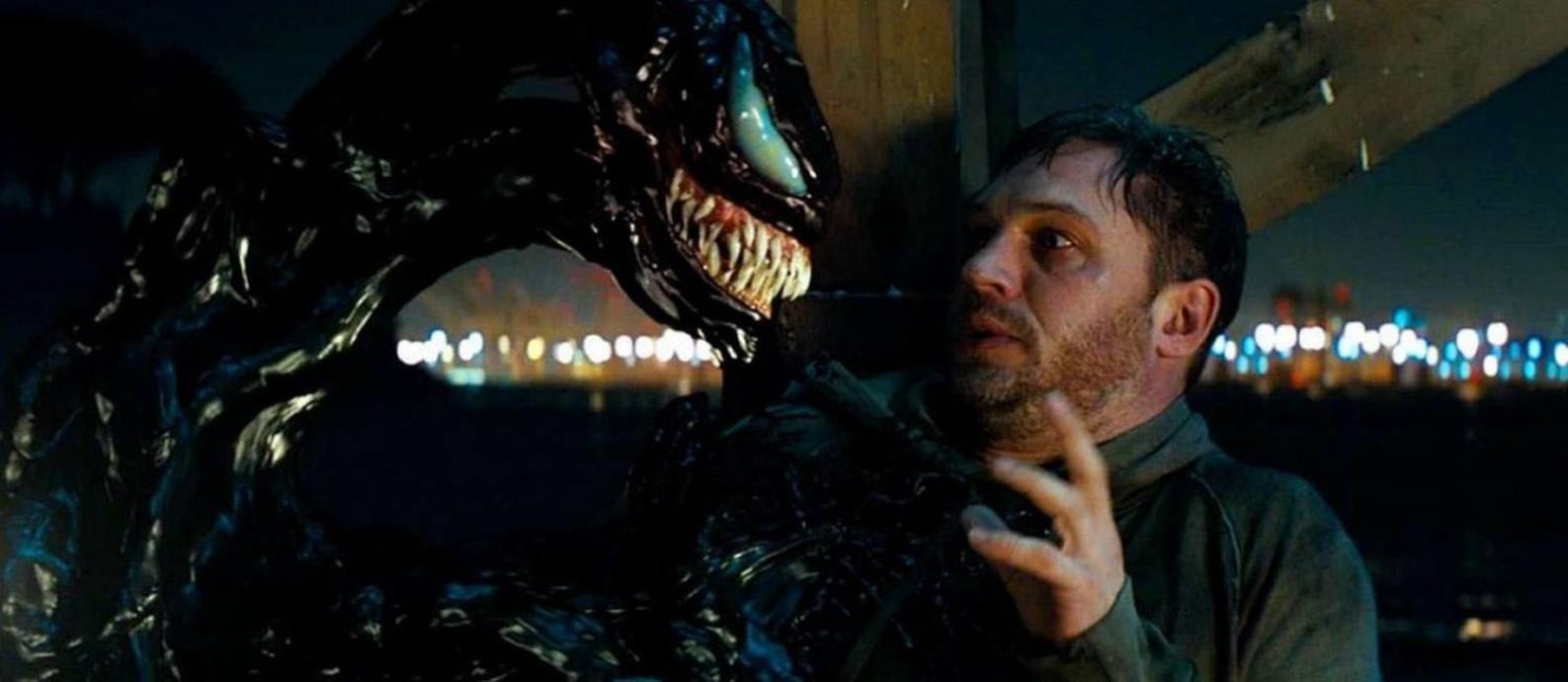 """RS- Tom Hardy em cena do filme """"Venom"""""""