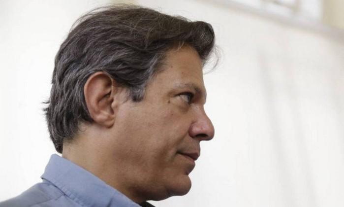 O candidato do PT ao Palácio do Planalto, Fernando Haddad Foto: Gabriel de Paiva / Agência O Globo