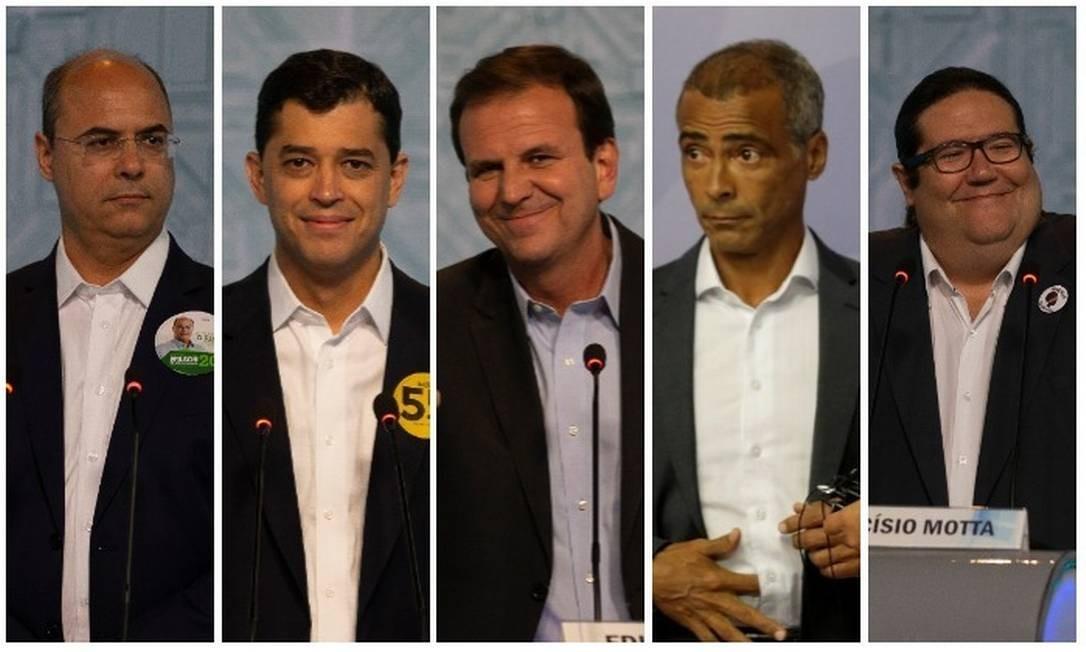 Os candidatos ao governo do Rio Foto: Arquivo O GLOBO
